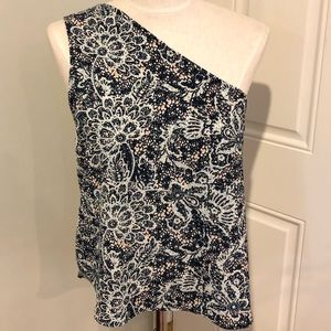 New Seven Sisters one shoulder floral blouse top